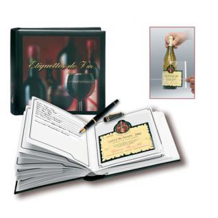 SAFE 7595 Weinetikettenalbum Sammelalbum mit Register 30 Selbstklebe-Folien zum lösen der Weinetiketten