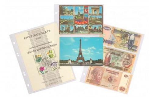 KOBRA PK3 Rot Banknotenalbum Album für Geldscheine Banknoten Postkarten Ansichtskarten 40 Blatt = 160 St. - Vorschau 2
