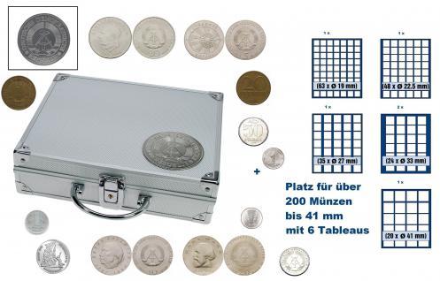 SAFE 234 STANDARD ALU Länder Münzkoffer SMART DDR Deutsche Demokratische Republik mit 6 Tableaus Mix für über 200 Münzen bis 41 mm