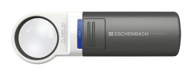 LINDNER 7122 ESCHENBACH Taschenleuchtlupe Leuchtlupe mobilux LED 7 fache Vergrößerung Linse 35 mm