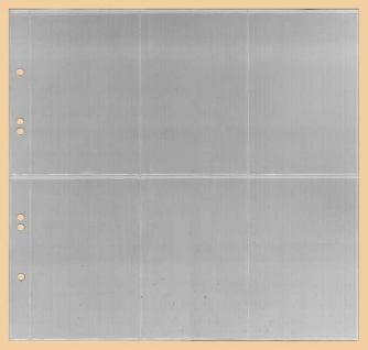 1 x KOBRA G47E Ergänzungsblätter - Ersatzblätter 6 Taschen glasklar Hochformat 78 x 120 mm Für Banknoten - Liebigbilder - Reklamebilder Sammelbilder