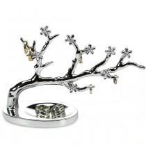 SAFE 73828 Design Schmuckständer Schmuckbaum Silberfarbend L 21 cm für Schmuck & Ohrringe & Ringe