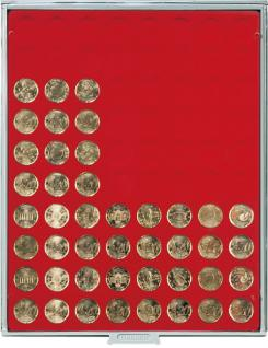 LINDNER 2580 Münzbox Münzboxen Standard 80 x 22, 5 mm Für 20 EURO Cent - 1/4 Unze Goldmünzen - Vorschau 1