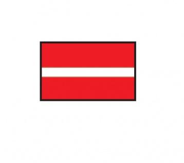 1 x SAFE 1175 SIGNETTE Flagge Lettland - Latvia - Latvijas Aufkleber Kennzeichnungshilfe - selbstklebend
