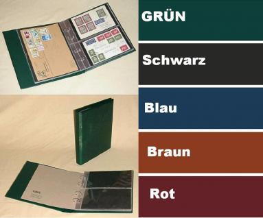 KOBRA G22 Hellbraun - Braun Universal Doppel-FDC-Album Sammelalbum 10 geteilten Blättern Für 40 FDC 's Briefe Postkarten Banknoten - Vorschau 1