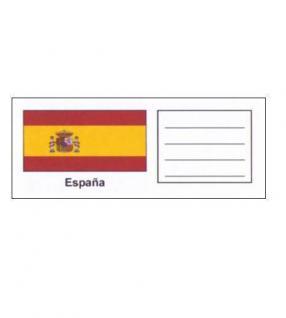 6 x KOBRA FEL-LAND-SP Länderschildchen mit farbiger Flagge Spanien - Espana - Spain Für die Münzblätter FE24 oder zum gestallten von Vordruckblättern
