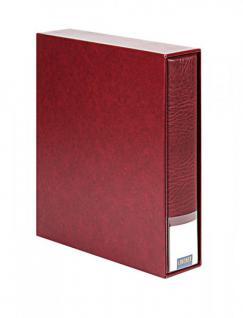 LINDNER 3508-W Weinrot - Rot Set Publica L 3506 Ringbinder Universal A4 + 3507 Kassette leer zum selbst befüllen