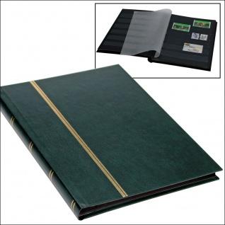 SAFE 141-3 Briefmarken Einsteckbücher Einsteckbuch Einsteckalbum Einsteckalben Album im Buchformat A5 Grün 16 schwarzen Seiten