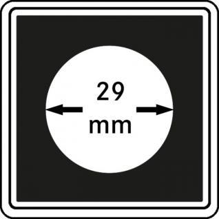 1 x LINDNER 2240029 Münzkapseln / Münzenkapseln CARREE 29 mm Für 5 Euro Österreich - 5 DM - 5 Mark DDR - 100 Euro Gedenkmünze - 2 Mark Kaiserreich