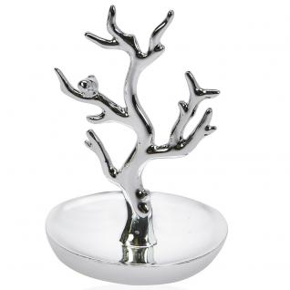 SAFE 73824 Design Schmuckständer Schmuckbaum Silberfarbend Midi für Schmuck & Ohrringe & Ringe