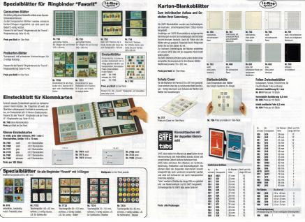 5 x SAFE 719 dual Blankoblätter Einsteckblätter Ergänzungsblätter mit je 1 Tasche 208 x 216 für Kleinbogen25 er Bogen Deutsche Bundespost - Vorschau 4