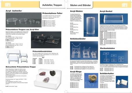 3 x SAFE 5158 Acryl Ringe Deko Präsentations Aufsteller XL - 1XLarge Ringhöhe 15 mm Durchmesser 50 mm - Ideal für Mineralien - Fossilien - Achatkugeln - Opal Eier - Bernstein - Vorschau 3