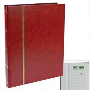 SAFE 115-1 Briefmarken Einsteckbücher Einsteckbuch Einsteckalbum Einsteckalben Album Weinrot - Rot 32 weissen Seiten