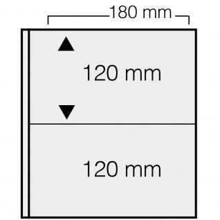 1 x SAFE 1277 ARTline Ergänzungsblätter Banknotenhüllen Hüllen 2er Teilung 180 x 120 mm