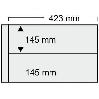 5 x SAFE 1022 Ergänzungsblätter mit 2 Taschen 423x145 mm + schwarze ZWL Für Blocks Viererblocks