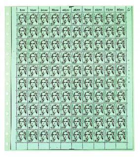5 x SAFE 753 Einsteckbklätter Spezialblätter Favorit glasklar & transparent 1 Tasche 260 x 300 mm Für ETB Bogen FDC