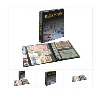 LINDNER 3537 Publica M Ringbinder Album Banknotenalbum + 20 Hüllen Mixed 2er / 3er Teilung