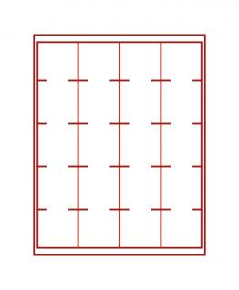 LINDNER 2621 Münzbox Münzboxen Rauchglas 20 x 51 mm Münzen kleine quadratische Inletts