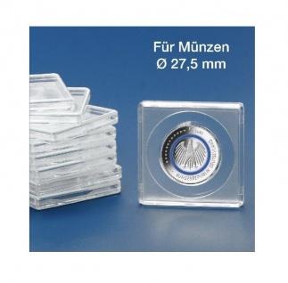 10 x SAFE 3127-5 SAFE Quadratische Münzkapseln Münzdosen Square 50x50 mm glasklar für Münzen bis 27, 5 mm - Ideal für 5 Euro Planet Erde - Klimazonen & 2 DM & 2 Reichsmark