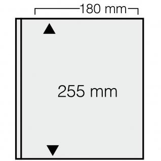 10 x SAFE 1276 ARTline Ergänzungsblätter Banknotenhüllen Hüllen 1er Teilung 180 x 255 mm