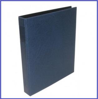 Hartberger 8200-B Münzringbinder Münzalbum Album SUPER Blau (leer) ideal für Münzrähmchen