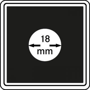 1 x LINDNER 2240018 Münzkapseln / Münzenkapseln CARREE 18 mm Für 20 Gold Euro Deutscher Wald - 5 Gold Mark Kaisereich