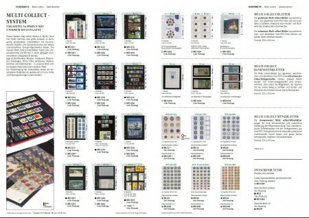 10 x LINDNER MU1313 Schwarze Multi Collect Einsteckblätter 3 Taschen 77 x 253 mm für Briefmarken - Bankoten Papiergeld - Vorschau 4