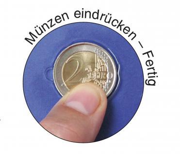 SAFE 7302-B2 TOPset Münzalbum 2 EUROMÜNZEN in Münzkapseln 26 + 9 Blätttern + Vordrucke 2012 - 2015 - Vorschau 2