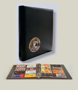 """SAFE 7581-R Weinrot-Rot Visitenkartenalbum """" Visit"""" Mappe Album mit 5 x 7564 Ergänzungsblättern + schwarzen Zwischenblättern für bis zu 80 Visitenkarten - Vorschau 3"""