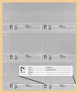 10 x KOBRA G26E Ersatzblätter Telefonkartenblatt 6 Telefonkarten Visitenkarten + Beschriftungskarten - Vorschau 1
