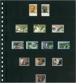 10 x LINDNER 05P Omnia Einsteckblätter schwarz 5 Streifen x 52 mm Streifenhöhe - Vorschau 3