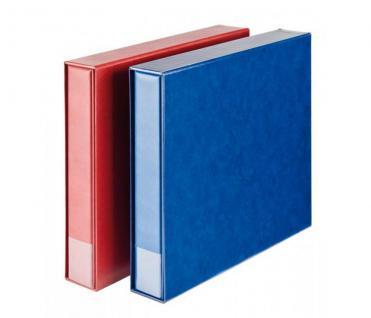 LINDNER 3008-W Postkartenalbum Ringbinder Standard XL Weinrot Rot + Kassette (leer) zum selbst befüllen - Vorschau 2
