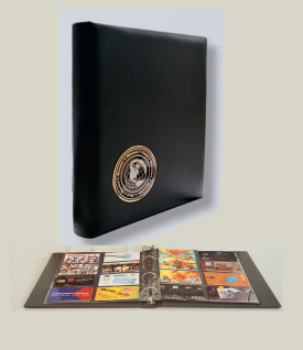 """SAFE 7571 Schwarzes Leder Visitenkartenalbum """" Visit-Wolrd"""" Album Mappe 5x Blättern für 80 Visitenkarten erweiterbar für bis zu 320 Karten"""