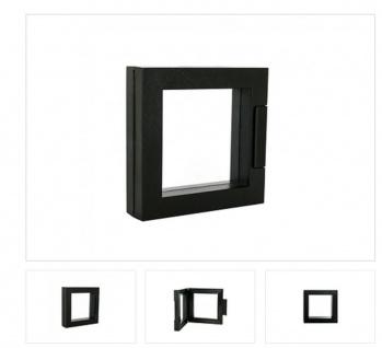 LINDNER 4835-S NIMBUS ECO 70 Schwarz Sammelrahmen Schweberahmen 3D 70x70x24 Für Schmuck Mineralien
