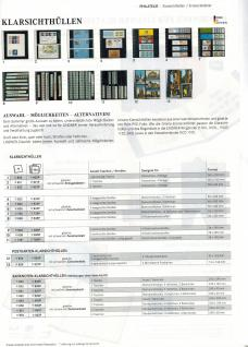 LINDNER 1102L - B Ringbinder Leder mit 18-Ring-Mechanik Blau Ideal für Banknoten - Briefmarken- Postkarten - Vorschau 5