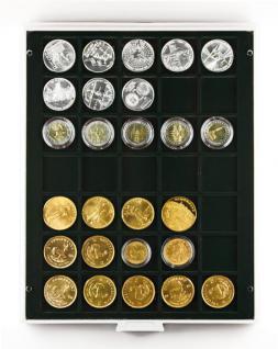Lindner 2135C Münzbox Münzboxen Carbo Schwarz 35 x 36 mm Münzen quadratische Vertiefungen 5 Reichsmark - Vorschau 1