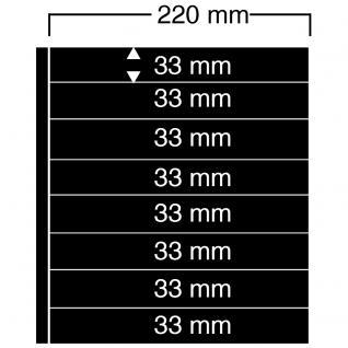 10 SAFE 458 Einsteckblätter Compact A4 - 8 schwarze Taschen 220x33 mm Für Sammelobjekte Briefmarken