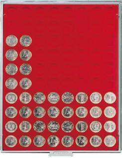 LINDNER 2108 Münzbox Münzboxen Standard 80 x 23, 5 mm Für 80 Stück 1 Euromünzen Euro / 1 DM