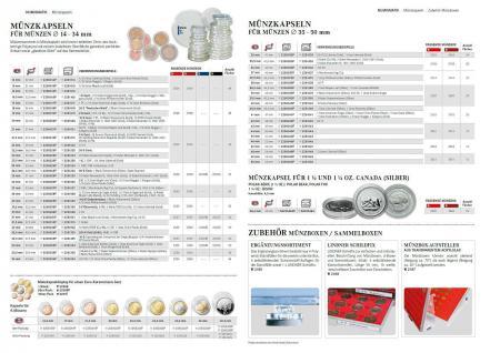 LINDNER 2626 MÜNZBOXEN Münzbox Rauchglas Dunkelrot Für 30x 39 mm 10 & 20 EURO 10 DM 10 & 20 Mark DDR Gedenkmünzen Münzen in Münzkapseln - Vorschau 5