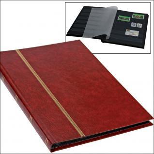 SAFE 141-1 Briefmarken Einsteckbücher Einsteckbuch Einsteckalbum Einsteckalben Album im Buchformat A5 Weinrot - Rot 16 schwarzen Seiten