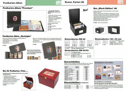 5 x SAFE 6021 Ergänzungsblätter SCHWARZ Postkarten Ansichtskarten 6 Taschen 108 x 155 mm für 12 Karten - Vorschau 4
