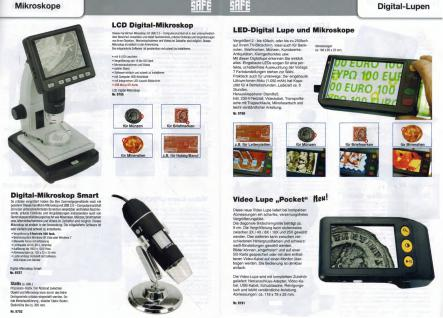 SAFE 9790 LED Digital Mikroskope Portable + Standfuß 4 GB Micro SD Karte - 2 - 250 fache Vergößerung Für Handel & Handwerk & Industrie - Münzen - Briefmarken - Banknoten - Mineralien - Fossilien - Lacke - Elecktronische Bauteile und und und - Vorschau 4