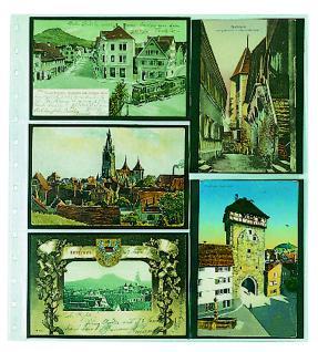 10 x SAFE 7750 Einsteckblätter Spezialblätter Favorit 3 quer & 2 senkrecht Für 10 alte Postkarten - Ansichtskarten - Banknoten - Geldscheine Papiergeld