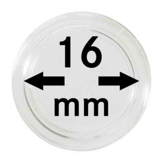 5 LINDNER Münzkapseln / Münzenkapseln Capsules Caps 16 mm 2250016P