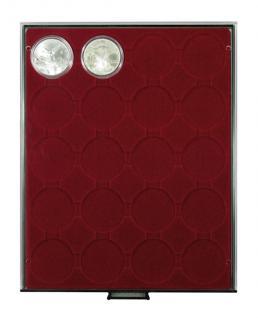 LINDNER 2920 Münzbox Münzboxen Rauchglas 20 x 48 mm 50 FF 1 Unze China Panda Silber in Münzkapseln - Vorschau 1