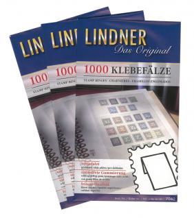50 x 1000 LINDNER 7041 Klebefälze Klebefalze vorgefalzt säurefrei gummiert