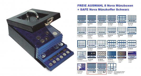 SAFE SET 6310 Nova Münzkoffer Münzboxkoffer STANDARD + 8 x Münzboxen - Schubladenelemente FREIE WAHL