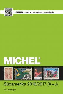 Michel Briefmarken Katalog Südamerika ÜK 3/1 A - J - 2016 / 2017 + GRATIS Bonus ETB