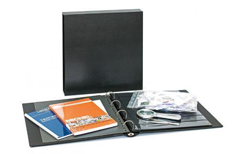 """Lindner S9022 Starter Set """" Briefmarken Sammeln """" Briefmarken Ringbinder + Trockenbuch + Pinzette + Lupe + Anleitung + Marken"""