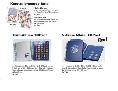 SAFE 7803 Euro Münzalbum TOPset Spiralbindung 20 Euro Kursmünzensätze KMS 1 Cent - 2 Euromünzen in Münzkapseln von Andorra - Zypern zum eindrücken - Vorschau 2